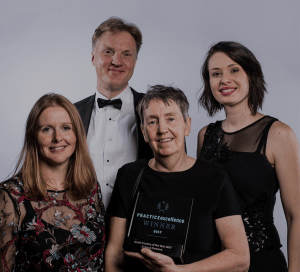 Evans & Partners winners of Practice Excellence award 2017