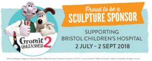 Gromit Unleashed 2 charity sponsor banner