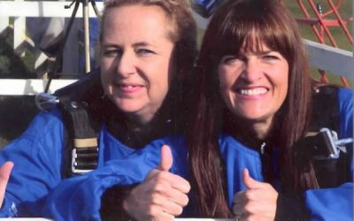 Skydiving staff raise over £1200 for St Peter's Hospice
